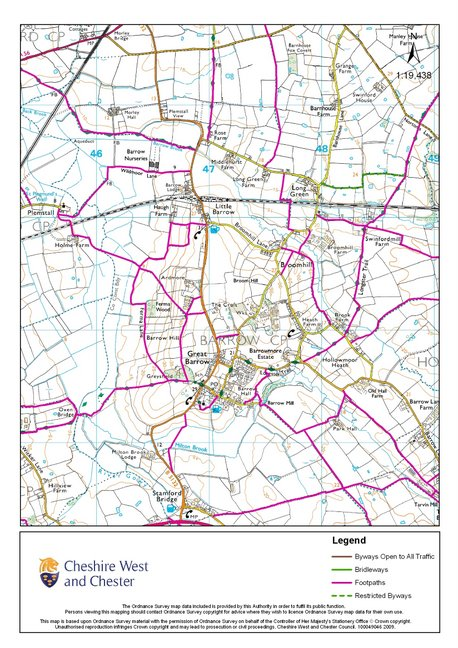 Footpath Map of Barrow Parish